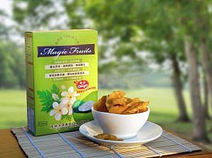 health green magic fruits 健康綠 魔術水果 青木瓜 鳳梨 芒果 萊姆 果寡糖 酵素 果乾 豐胸 通乳 通便 美容 營養品